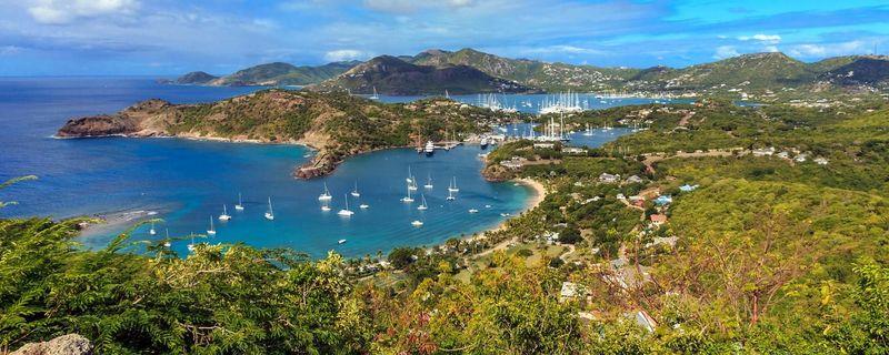 Empezando con una fácil, ¿Limitan Haití y Antigua y Barbuda?