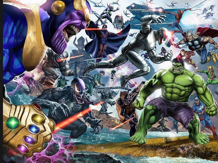 ¿Despues de la 1ª batalla que 4 villanos consiguen escapar y volver a su base?