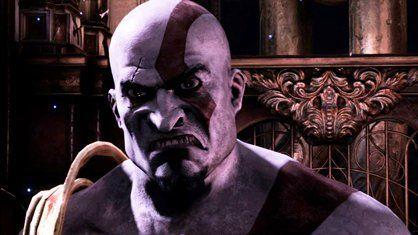En esta escena, ¿por que Kratos reacciona así?