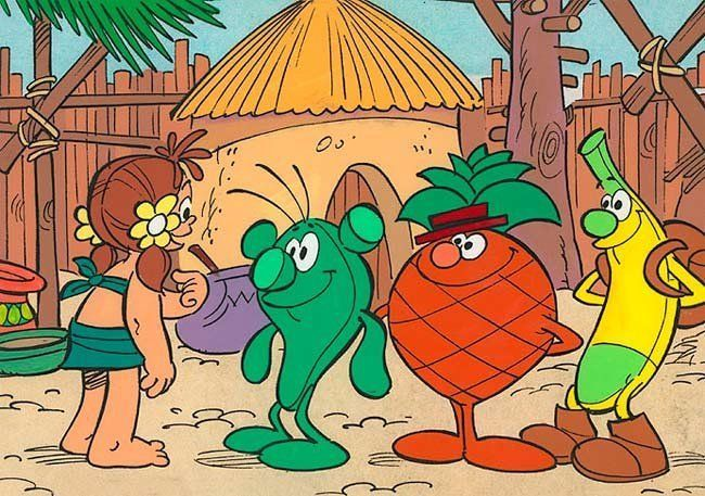 ¿Qué fruta es el alcalde en Los Fruittis?