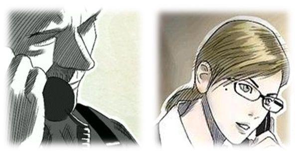 ¿Cómo se llaman el jefe del protagonista y la asistente del mismo? (Respectivamente)