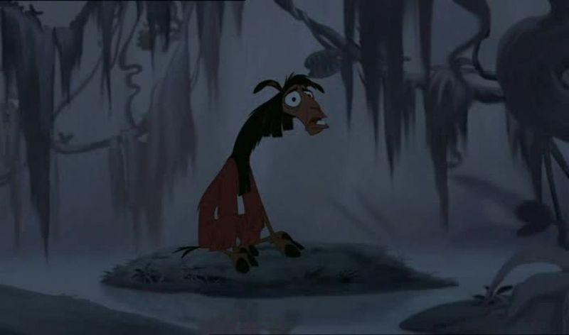 ¿Cuál es el primer animal en el que se convierte Kuzco (la llama), intentando volver a ser humano?