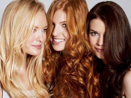 Según el color del cabello, tenemos en la cabeza...