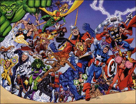 Un equipo de los Vengadores trata de interceptarlo antes de que llegue a la tierra ¿Quién no forma parte de dicho equipo?