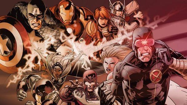 ¿Donde se produce el primer enfrentamiento entre los Vengadores y la Patrulla X?