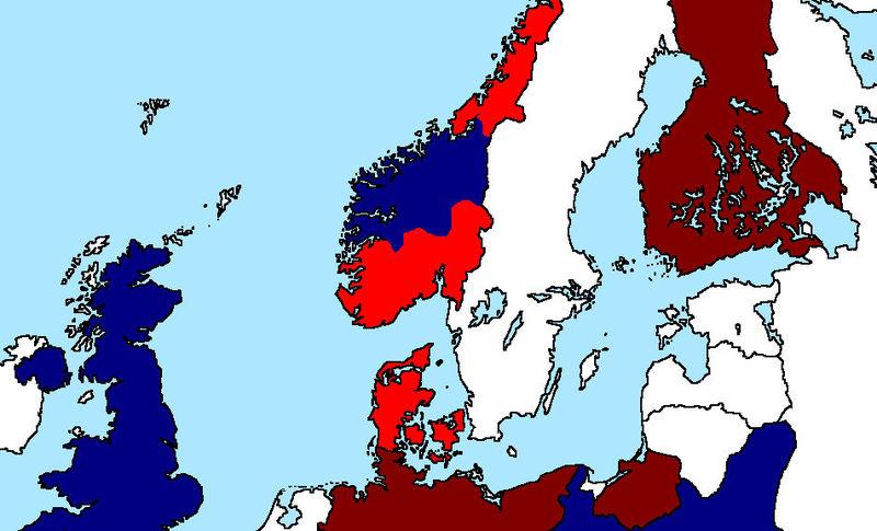 Dinamarca se ha rendido del tirón. Noruega caerá pronto. El Reino Unido, Francia y Polonia te han declarado la guerra.