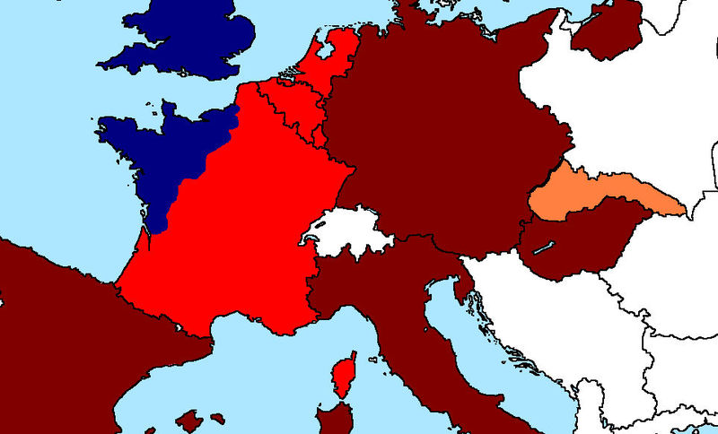La Royal Air Army ha sido más poderosa y ha empezado la reconquista de Francia. ¿Qué haces ahora?