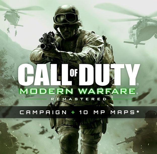 Activision utiliza Modern Warfare Remastered. Te quita 50 de vida.