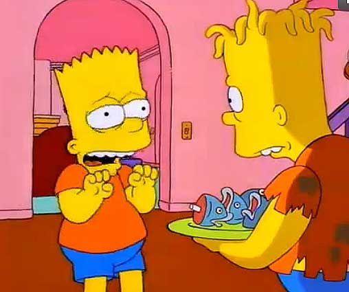 ¿En qué lado tiene Bart su cicatriz de cuando le separaron de su hermano siamés Hugo?