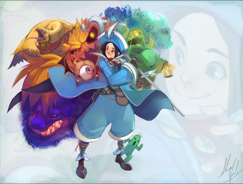 ¡Este mago azul te va a mostrar una habilidad de monstruo! ¿Cual te gustaría?