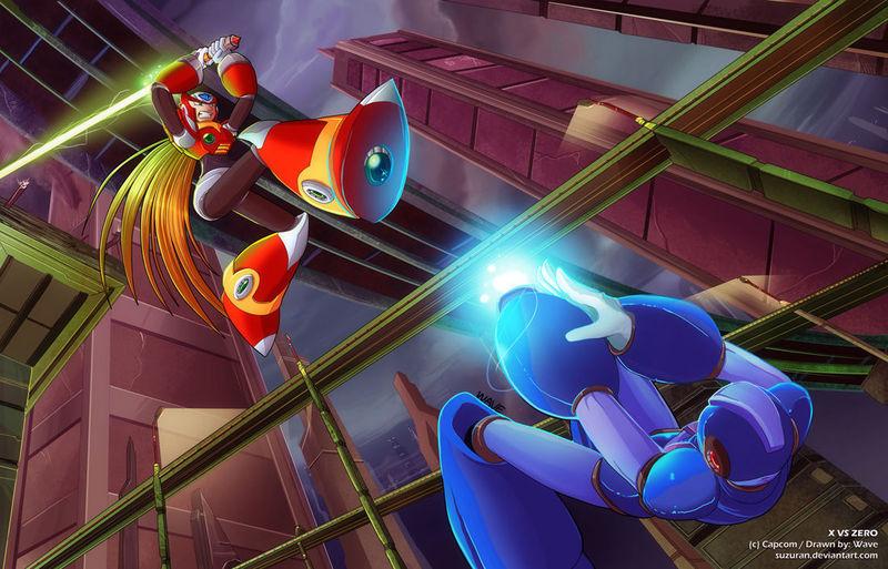 Megaman X (Rockman X) Vs Zero