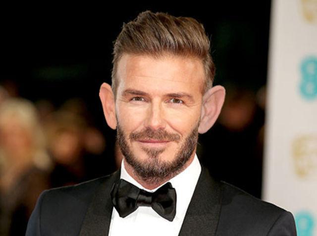 ¿De qué futbolista son las orejas añadidas a David Beckham?