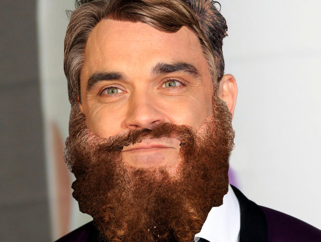 ¿Qué actor le ha dado su barba y pelo a Robbie Williams?