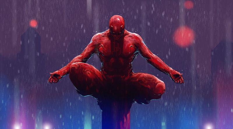 Daredevil en sus inicios no vestía de rojo, ¿De qué color era su primer atuendo?