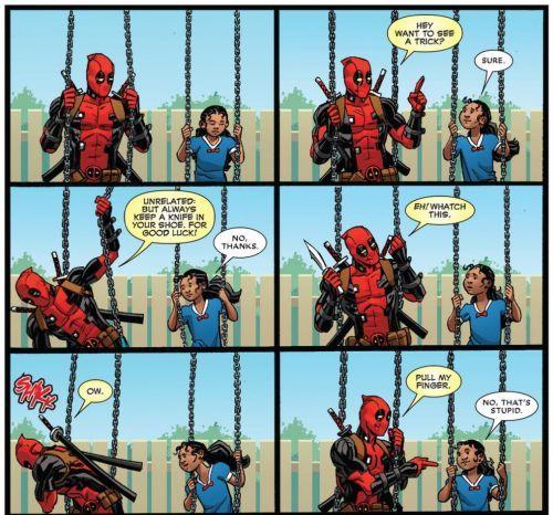 En uno de sus arcos argumentales, Deadpool descubre que tiene una hija, ¿Cómo se llama?