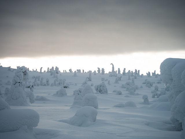 ¿Y este paisaje nevado?