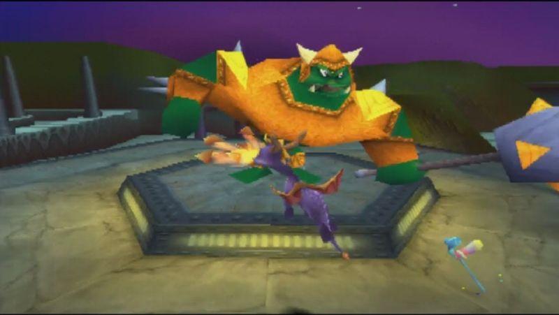 ¿Qué dos hechizos lanza Gnasty Gnorc a los dragones?