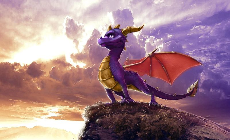 ¿De que color iba a ser en principio Spyro?
