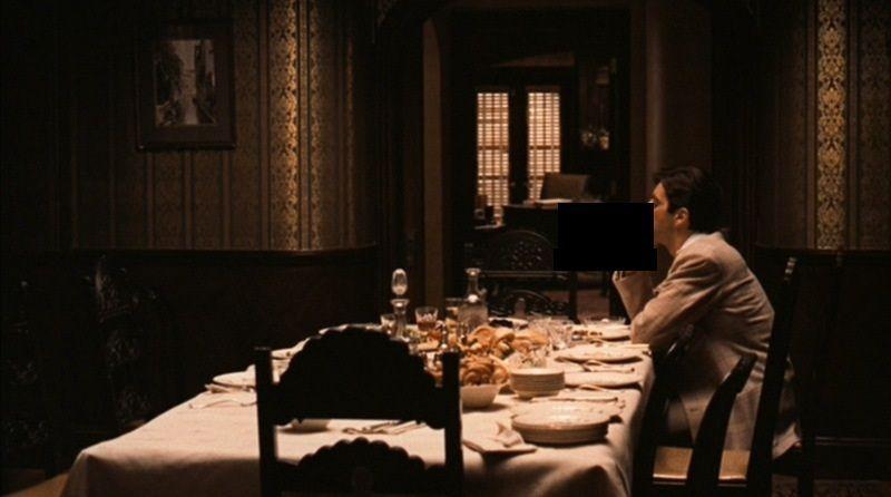 ¿Qué está haciendo Michael Corleone en El padrino?