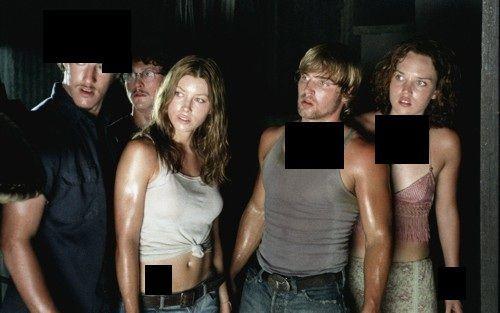 ¿Qué llevan de izquierda a derecha los protagonistas en La matanza de Texas?