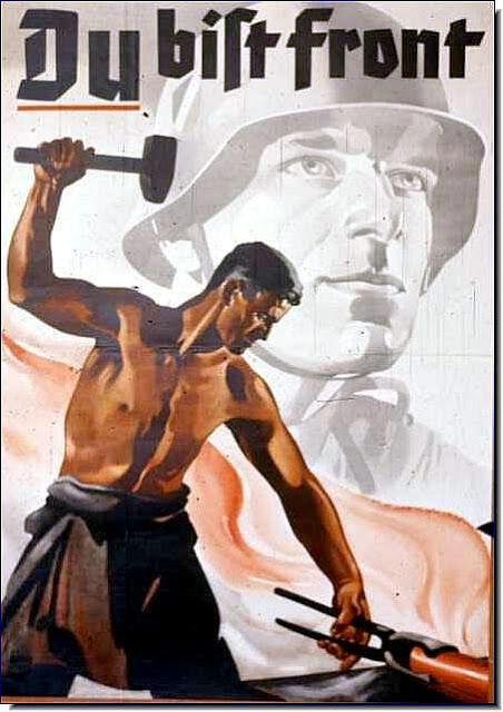 Y relacionado al trabajo, ¿que realizó el Tercer Reich con los trabajadores de Alemania?