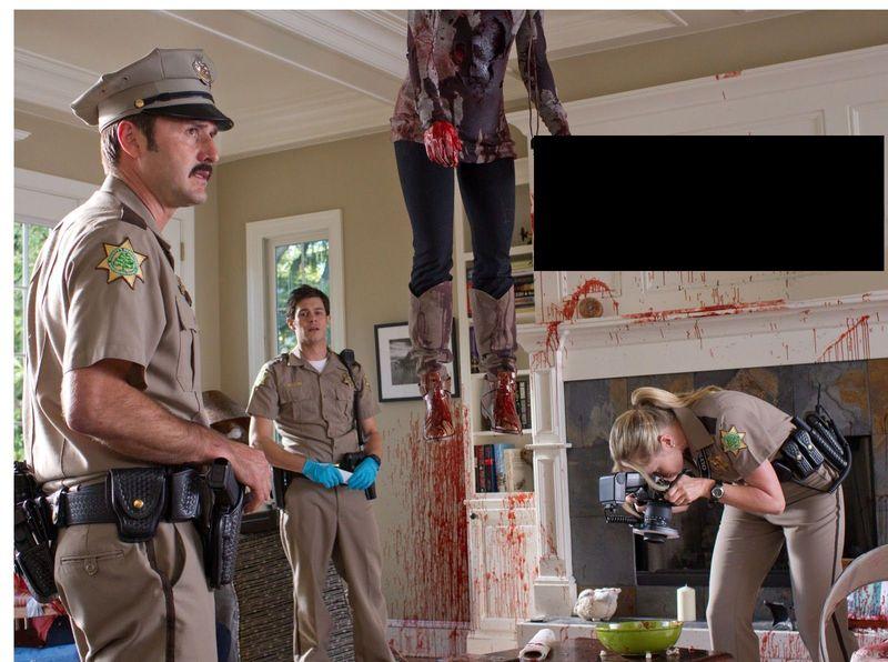¿Que pone en la pared escrito con sangre en inglés en Scream?