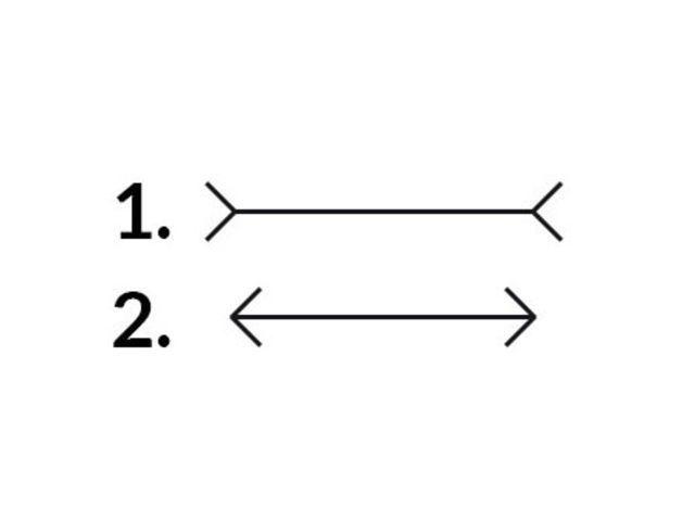 ¿Qué raya es más larga?