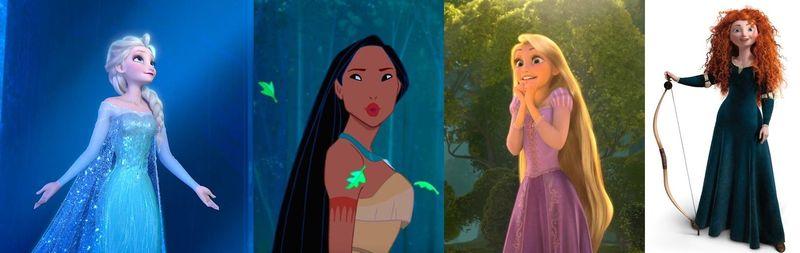 ¿Cuál de estas princesas NO es parte de las princesas 'oficiales' de Disney?