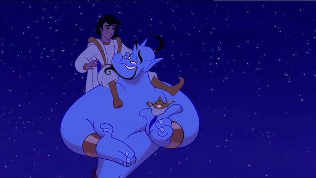 ¿Cuántos años lleva el Genio atrapado en la lámpara mágica cuando lo encuentra Aladdin?