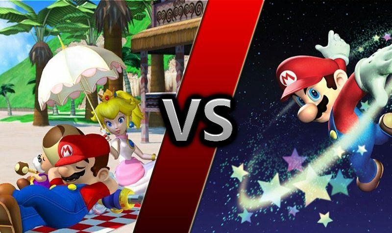¿Super Mario Sunshine, Super Mario Galaxy o Super Mario Galaxy 2?