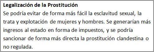 Legalización de la Prostitución