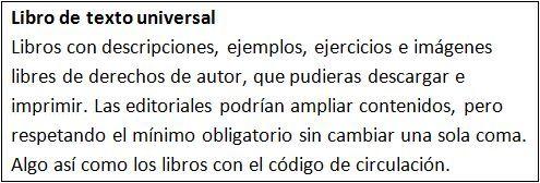 Libros de texto universales.
