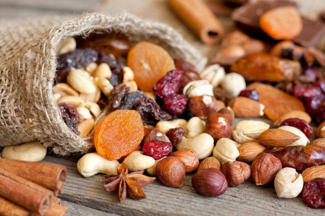 Frutos secos. ¿Cacahuetes, nueces, almendras...?