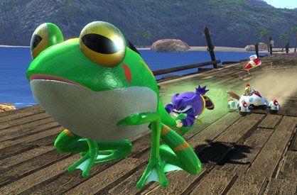 ¿De qué color es la Chaos Emerald que se traga Froggy en la historia de Big?
