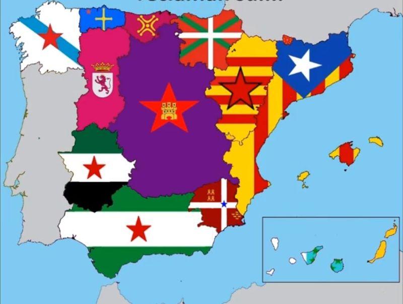 España en conjunto: ¿Crees que acabará desapareciendo España y que se formarán pequeñas repúblicas (Castilla, León, etc)?