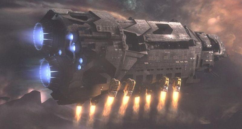 ¿Cómo se llama la nave en la que viajan el jefe maestro y Cortana en la escena inicial de Halo?