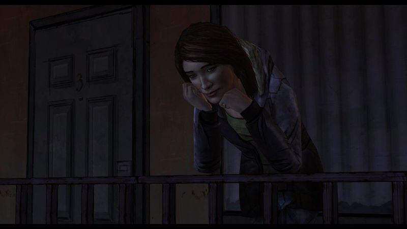 Tras terminar la discusión, Carley te llama para hablar con ella. Te dice que piensa mucho en ti. Debes contar tu pasado.