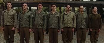 Al llegar y ver a todos los soldados en fila, tú...