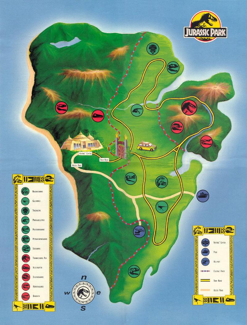 ¿Cual es el nombre de la isla donde se encuentra Jurassic Park?