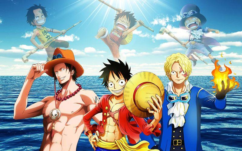 Puede que no sean hermanos de sangre, pero en One Piece tenemos tres hermanos muy problemáticos, si, tres. ELIJE