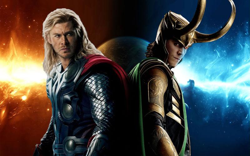Unos hermanastros un poco más poderosos... Thor y Loki, el dios del rayo y el señor de las jugarretas, decide.