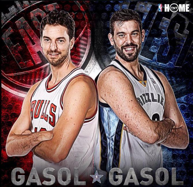 Para terminar, un poco de deportes, baloncesto. Los hermanos Gasol, ¿Con cuál te quedas?