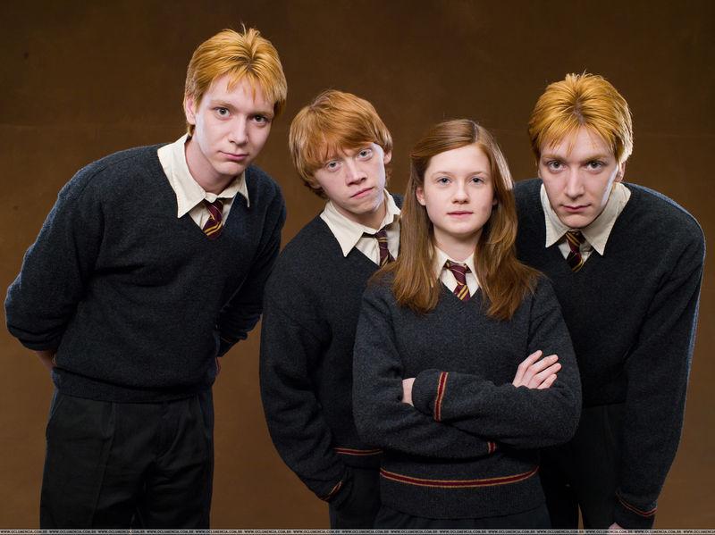 En Harry Potter tenemos a nuestros queridos Weasly (Que no son pocos), pero, de entre estos cuatro ¿Con cuál te quedas?
