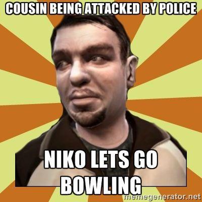 ¡Hey Niko! ¡Es tu primo! ¿Quieres ir a jugar a los bolos?
