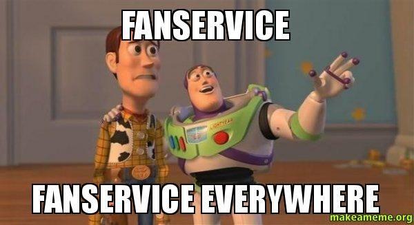 ¿Qué es el fanservice?