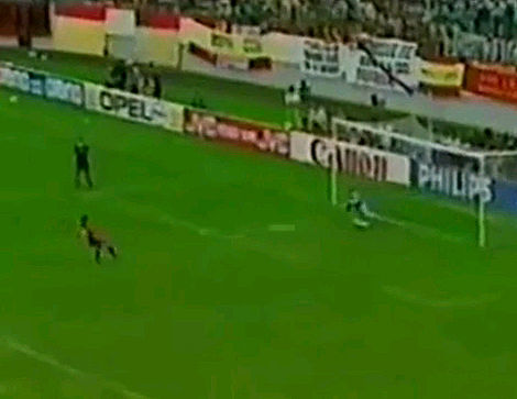 En 1986, siendo favorita, España se quedaría en 1/4 tras caer por penaltis frente a Bélgica (5-4). Lo falló...