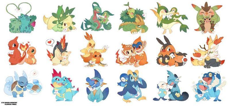 21507 - ¿Qué Pokémon inicial has escogido en cada generación?