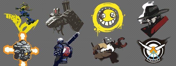 21512 - OVERWATCH: ¿Puedes asociar cada Spray con su respectivo personaje?