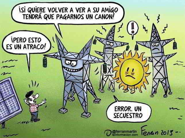 ¿Que opinas del ''impuesto al sol''? (Instalación solar privada conlleva a tener que pagar un impuesto al gobierno)