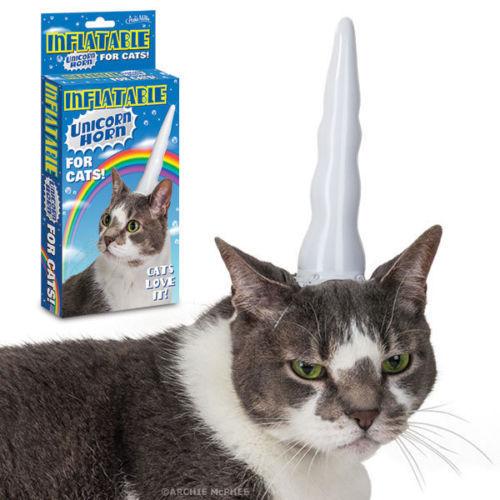 Cuerno inflable para gatos